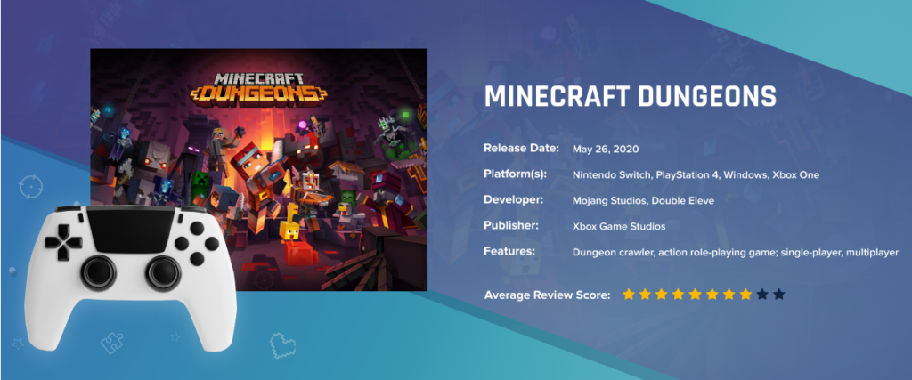 Minecraft Dungeons - Best-Selling Games in 2020: Key Factors of Success, Demand Trends and Forecasts of Future Leaders