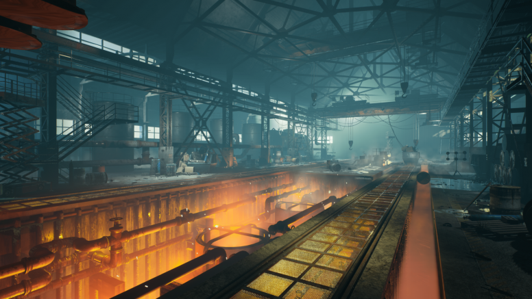 Factory 3D environment