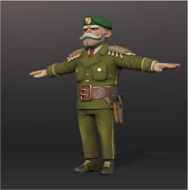 Generals 3D Model